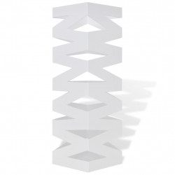 Квадратна стоманена стойка за чадъри, бастуни, 48,5 см, бяла - Изтривалки и Поставки за чадъри