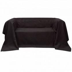 Калъф за диван, микро велур, кафяв, 140 x 210 cм - Калъфи за мебели