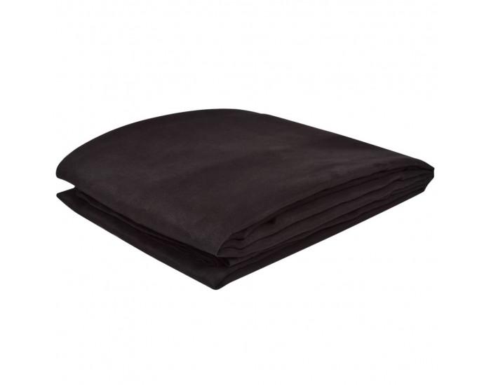 Калъф за диван, микро велур, кафяв, 140 x 210 cм -