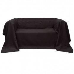 Калъф за диван, микро велур, кафяв, 270 x 350 cм - Калъфи за мебели