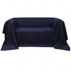 Калъф за диван, микро велур, тъмносин, 210 x 280 cм - Калъфи за мебели