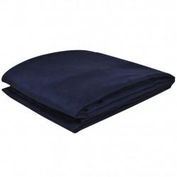 Калъф за диван, микро велур, тъмносин, 270 x 350 cм - Калъфи за мебели