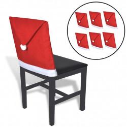 Комплект от 6 калъфки за столове с шапката на Дядо Коледа - Сезонни и Празнични Декорации