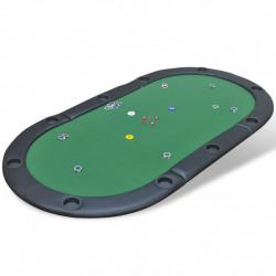 Sonata Сгъваем плот за покер маса за 10 играчи, зелен - Спортни Игри