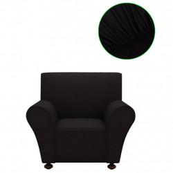 Sonata Разтегателен калъф за фотьойл, черно полиестерно жарсе - Калъфи за мебели