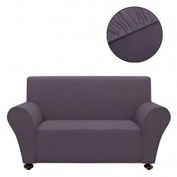 Sonata Разтегателен калъф за диван, черно полиестерно жарсе - Калъфи за мебели