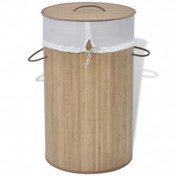 Sonata Бамбуков кош за пране, кръгъл, натурален цвят - Техника и Отопление