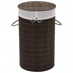 Sonata Бамбуков кош за пране, кръгъл, тъмнокафяв - Техника и Отопление