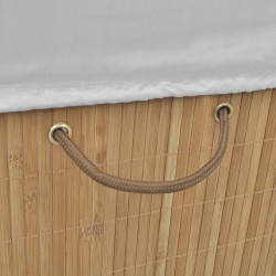 Sonata Бамбуков кош за пране, правоъгълен, естествен цвят - Перални