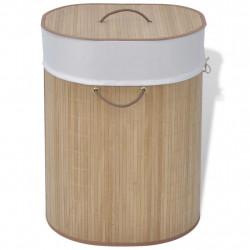 Sonata Бамбуков кош за пране, овален, натурален цвят - Перални