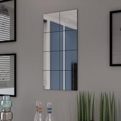 Sonata Огледални плочки без рамки, стъкло, 8 бр, 20,5 см - Огледала