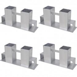 Sonata укрепващ комплект за дърва 4 броя, сребристи - Камини, Комини и Печки на дърва