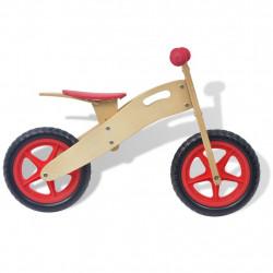Sonata Велосипед за балансиране, дърво, червен - Детски превозни средства