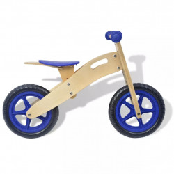 Sonata Детски велосипед за балансиране, дърво, син - Детски превозни средства