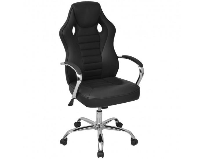 Sonata Директорски офис стол от черна изкуствена кожа -