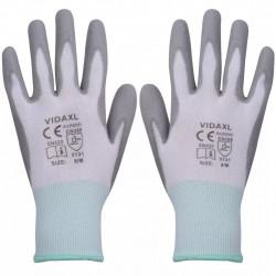 Sonata Работни ръкавици, PU, 24 чифта, бяло и сиво, размер 8/M - Предпазни облека