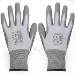 Sonata Работни ръкавици, PU, 24 чифта, бяло и сиво, размер 9 / L - Предпазни облека