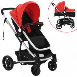 Sonata Детска/бебешка количка 2-в-1, алуминий, черно и червено - Детски превозни средства