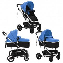 Sonata Детска / бебешка количка 2-в-1, алуминий, синьо и черно - Детски превозни средства