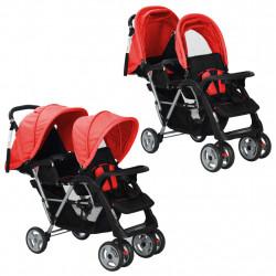 Sonata Бебешка количка - двойна, червено и черно - Детски превозни средства