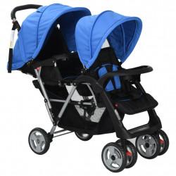 Sonata Бебешка количка - двойна, синьо и черно - Детски превозни средства