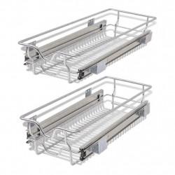 Sonata Плъзгащи се телени кошници, 2 бр, сребристи, 300 мм - Малки домакински уреди