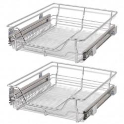 Sonata Телени кошници, плъзгащи се, 2 бр, сребристи, 500 мм - Малки домакински уреди