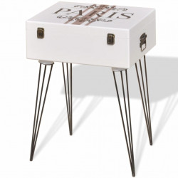 Sonata Страничен шкаф, 40х30х57 см, бял - Скринове