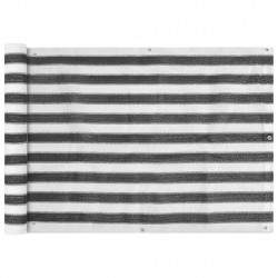 Sonata Балконски екран, HDPE, 75x400 см, антрацитно сиво и бяло - Сенници и Чадъри