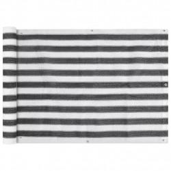 Sonata Балконски екран, HDPE, 75x600 см, антрацитно сиво и бяло - Сенници и Чадъри