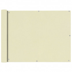 Sonata Балконски екран от оксфорд плат, 90x400 см, кремав - Сенници и Чадъри