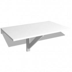Sonata Сгъваема маса стенен монтаж, бяла, 100x60 cм - Спортни Игри