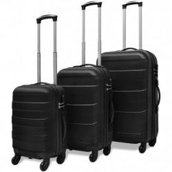 Sonata комплект 3 броя твърди куфари на колелца, черни - Куфари и Чанти