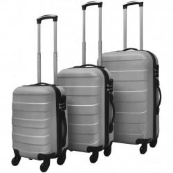 Sonata комплект 3 броя твърди куфари на колелца, сребристи - Куфари и Чанти
