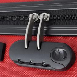 Sonata комплект 3 броя твърди куфари на колелца, червени - Куфари и Чанти