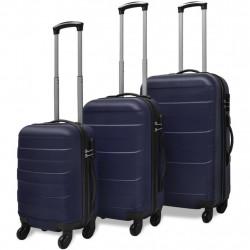 Sonata комплект 3 броя твърди куфари на колелца, сини - Куфари и Чанти