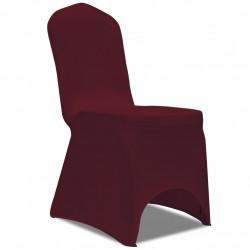 Sonata Покривни калъфи за столове, еластични, 4 бр, бордо - Калъфи за мебели