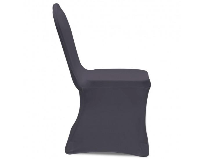 Sonata Покривни калъфи за столове, еластични, 6 бр, антрацитно черно -