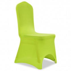 Sonata Покривни калъфи за столове, еластични, 6 бр, зелени - Калъфи за мебели