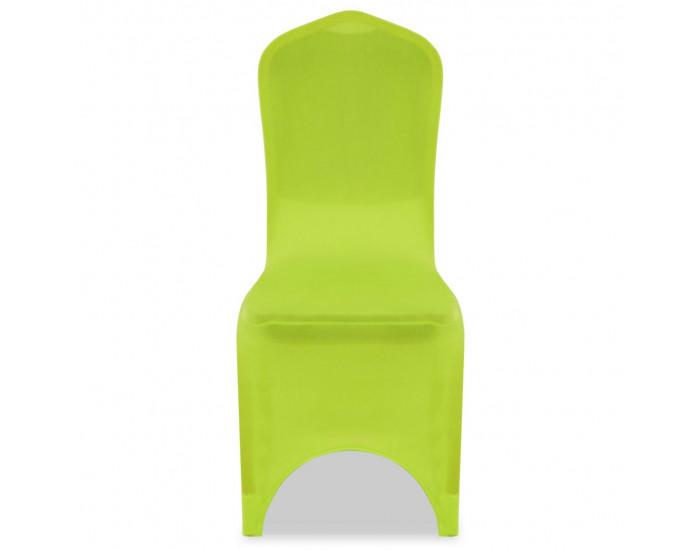 Sonata Покривни калъфи за столове, еластични, 4 бр, зелени -