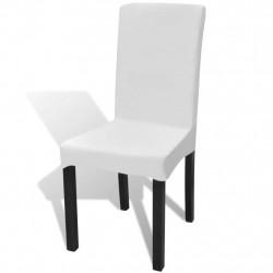 Sonata Покривни калъфи за столове, еластични, 4 бр, бели - Калъфи за мебели
