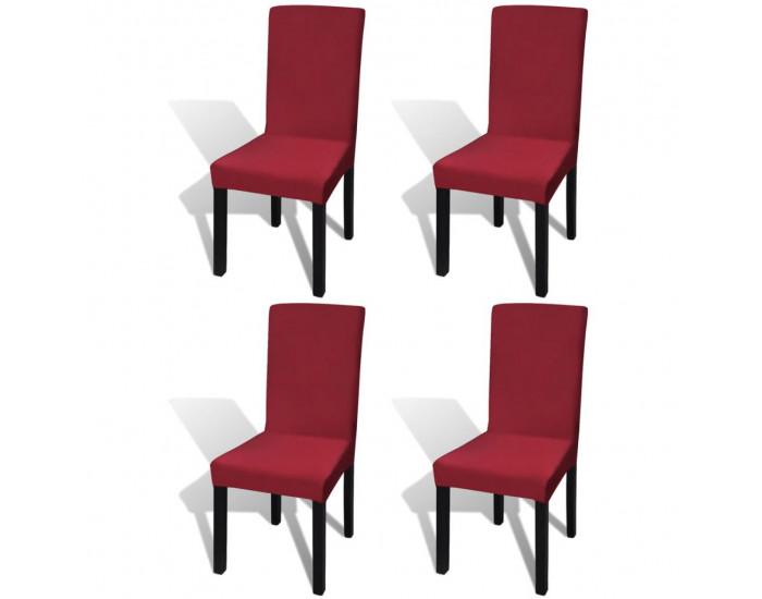 Sonata Покривни калъфи за столове, еластични, 4 бр, бордо -