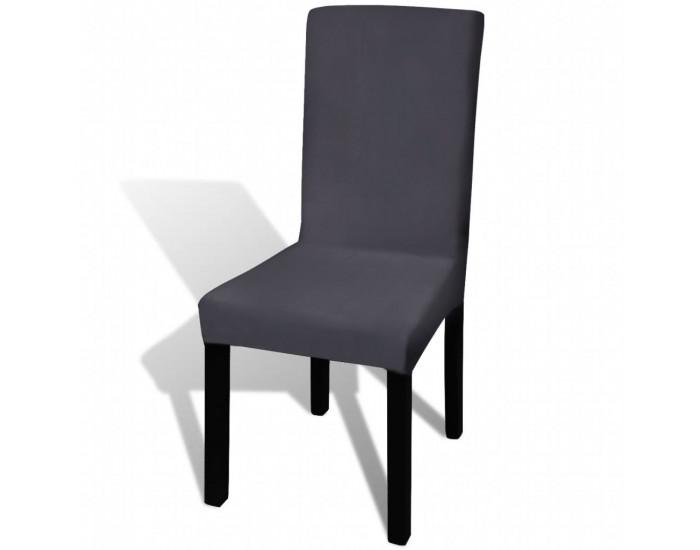 Sonata Покривни калъфи за столове, еластични, 6 бр, антрацит -