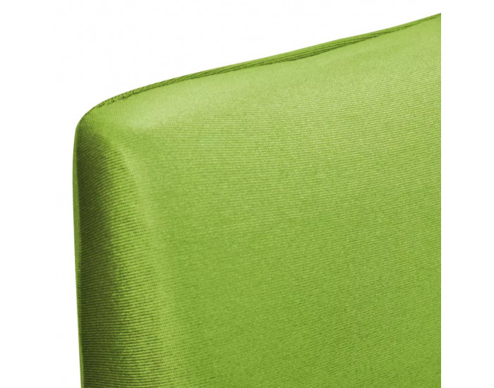 Sonata Покривни калъфи за столове, еластични, 6 бр, зелени -
