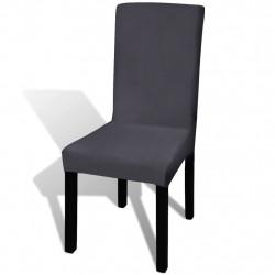 Sonata Покривни калъфи за столове, еластични, 4 бр, антрацит - Калъфи за мебели