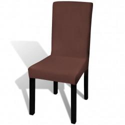 Sonata Покривни калъфи за столове, еластични, 4 бр, кафяви - Калъфи за мебели