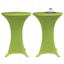 Sonata Покривки за маса, еластични, 2 бр, 80 см, зелени - Маси