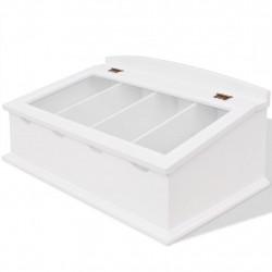 Sonata Поставка за прибори за хранене, MDF, бяла, бароков стил - Малки домакински уреди