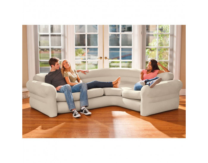 Intex Надуваем ъглов диван/канапе, 257x203x76 cм, 68575NP -