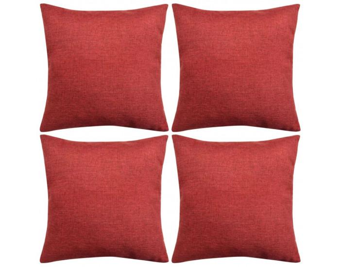 Sonata Калъфки за възглавници, 4 бр, бордо, 50x50 см -